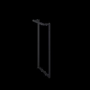 Stelaż boczny do umywalki Elita Look z relingiem black 167668