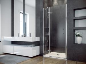 Drzwi prysznicowe przejrzyste szkło prawe Besco Viva 100x195 cm DVP-100-195C