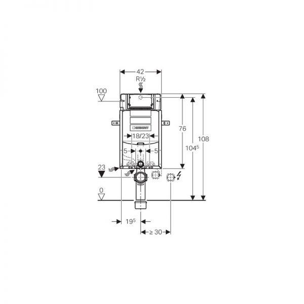 Zdjęcie Stelaż podtynkowy do WC Geberit Kombifix Super H108 SIGMA 110.300.00.5