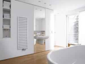 Grzejnik łazienkowy Zehnder Dekor Quaro biały 45x97,1 cm QA-100-045/ RAL 9016
