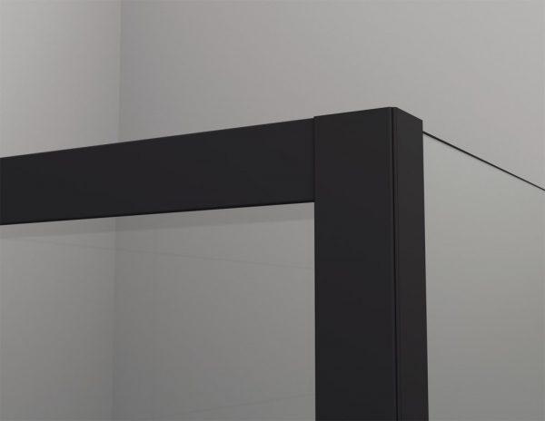 Zdjęcie Kabina prysznicowa Walk – In SanSwiss Easy Black, 140×200 cm czarny mat STR4P1400607 @