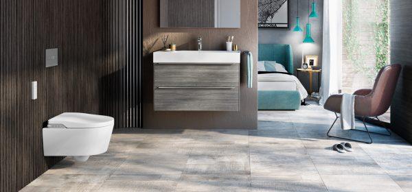 Zdjęcie PROMOCJA! Stelaż za 1zł Toaleta myjąca podwieszana Roca Inspira Rimless zasilanie 230V A803060001 + Stelaż Duplo One Smart 119×47,5 cm A890078020