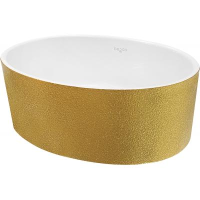 Umywalka nablatowa srebrna Besco Uniqa Glam 32x46x17 cm srebrny UMD-U-NGS