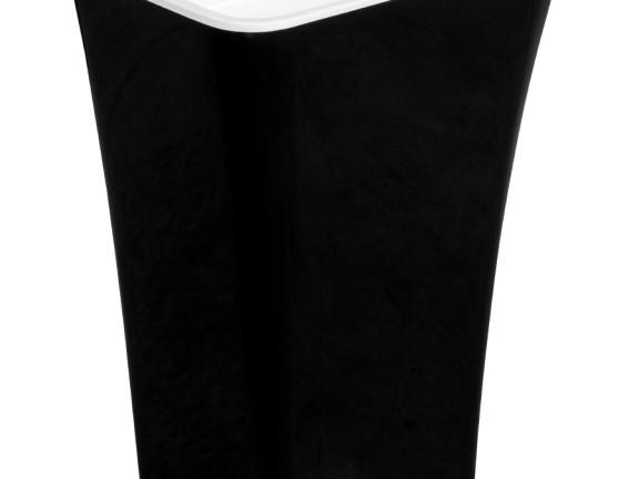Zdjęcie Umywalka wolnostojąca Besco Assos B&W  40x50x85 cm czarny/biały UMD-A-WOBW