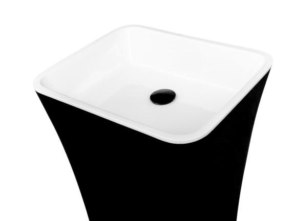 Umywalka wolnostojąca Besco Assos B&W  40x50x85 cm czarny/biały UMD-A-WOBW