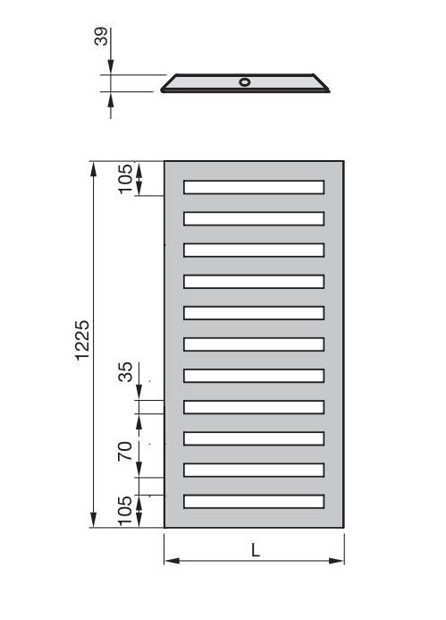 Zdjęcie Grzejnik łazienkowy Zehnder Metropolitan Bar biały 50×122,5 cm MEP-120-050/ RAL 9016