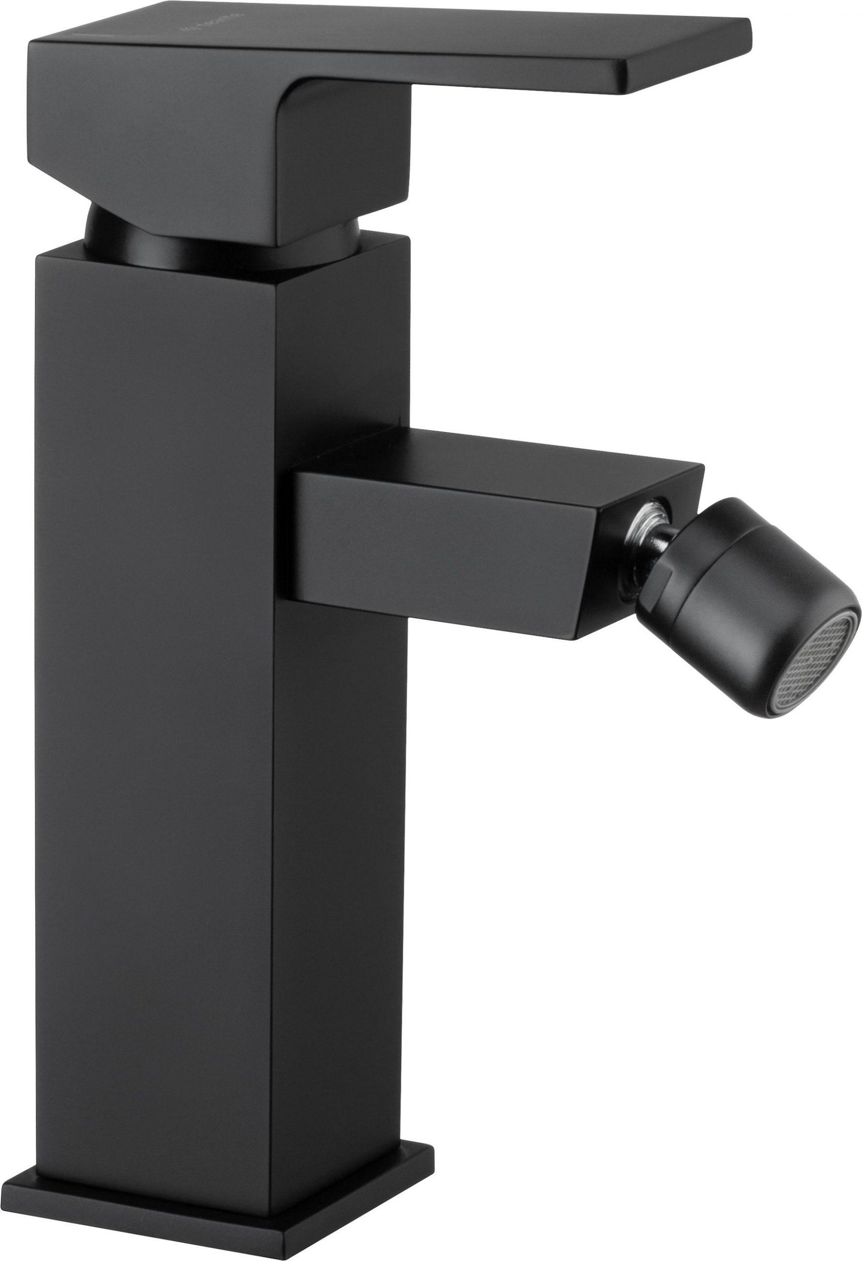 Deante Anemon Bis Bateria bidetowa stojąca z korkiem click-clack czarny BBZ_N31M