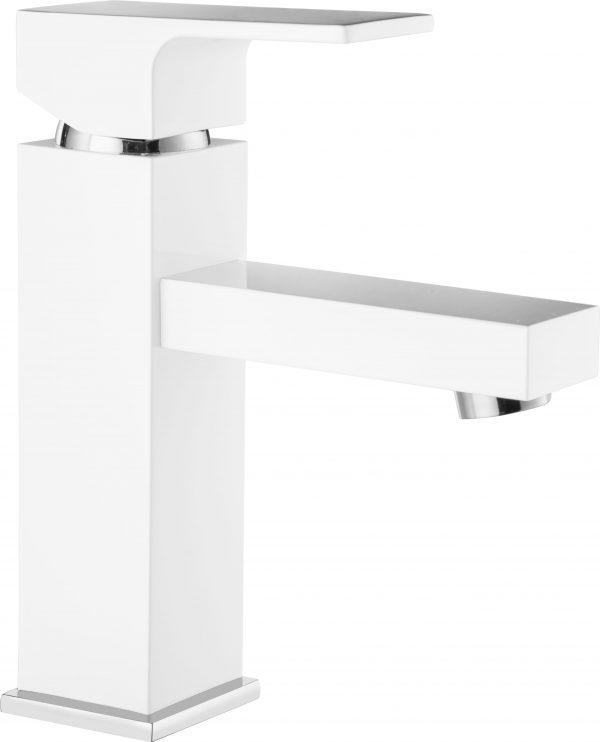 Zdjęcie Deante Savory Bateria umywalkowa stojąca – chrom/biały BCX_W210