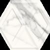 Zdjęcie Płytka ścienna Paradyż Morning Bianco Heksagon Struktura Połysk 19.8 x 17.1 cm SS—198X171-1-MORN.BI