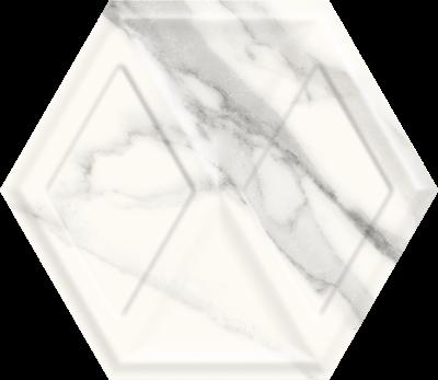 Płytka ścienna Paradyż Morning Bianco Heksagon Struktura Połysk 19.8 x 17.1 cm SS—198X171-1-MORN.BI