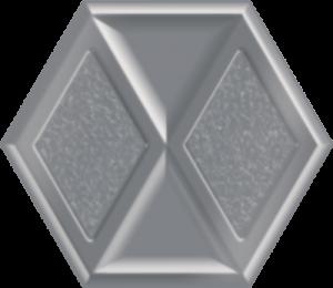Płytka dekoracyjna Paradyż Morning Silver Heksagon Inserto Połysk 19.8 x 17.1 cm I---198X171-1-MORN.SI