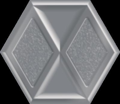 Płytka dekoracyjna Paradyż Morning Silver Heksagon Inserto Połysk 19.8 x 17.1 cm I—198X171-1-MORN.SI