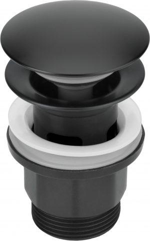 Deante Click-Clack Korek okrągły z przelewem czarny NHC_N10P