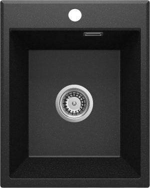 Deante Eridan Zlewozmywak granitowy 1-komorowy bez ociekacza - grafit metalik ZQE_G104