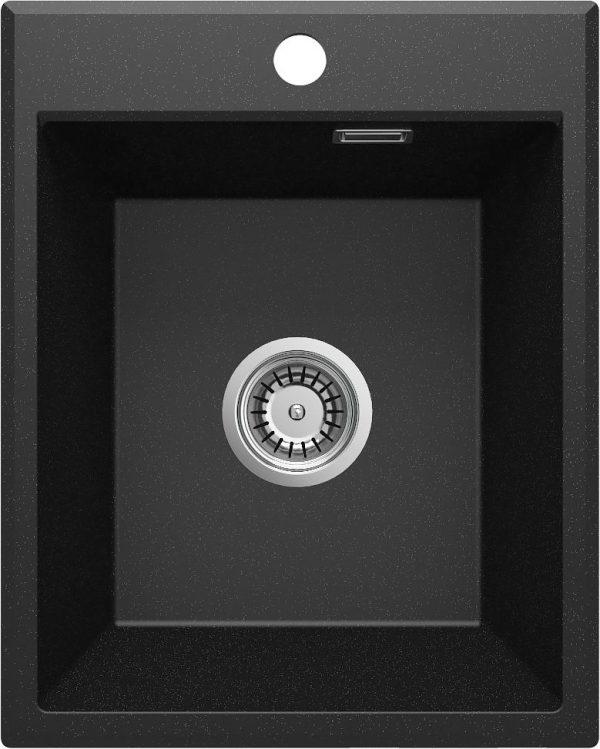Zdjęcie Deante Eridan Zlewozmywak granitowy 1-komorowy bez ociekacza – grafit metalik ZQE_G104