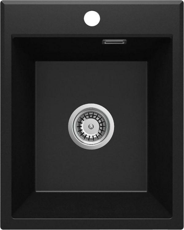 Zdjęcie Deante Eridan Zlewozmywak granitowy 1-komorowy bez ociekacza – nero ZQE_N104