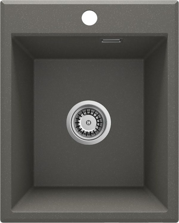 Zdjęcie Deante Eridan Zlewozmywak granitowy 1-komorowy bez ociekacza – antracyt ZQE_T104