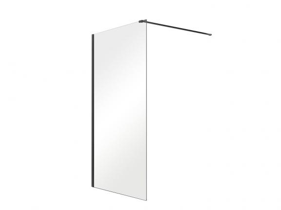 Zdjęcie Kabina prysznicowa Walk-In przejrzyste szkło Besco Aveo Black 90×195 cm AVB-90-195C