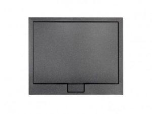 Brodzik kwadratowy czarny Besco Axim ULTRAslim Stone Effect 80x80 cm BAX-80-KW-C