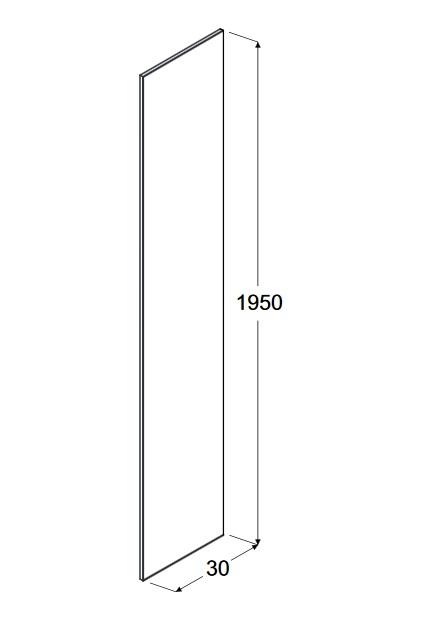 Zdjęcie Panel boczny do walk in przejrzyste szkło Besco Aveo/Aveo Due Panel 30×195 cm PA-30-195-C