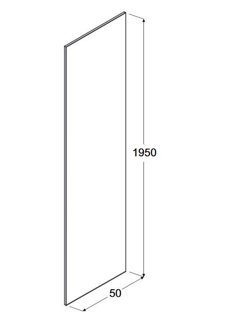 Zdjęcie Panel boczny do walk in przejrzyste szkło Besco Aveo/Aveo Due Panel 50×195 cm PA-50-195-C