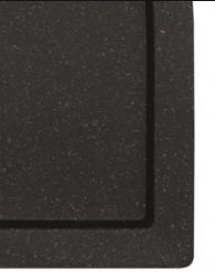 Brodzik prostokątny czarny Besco Alpina Slimline Stone Effect 120x80 cm BAA-128-P-C