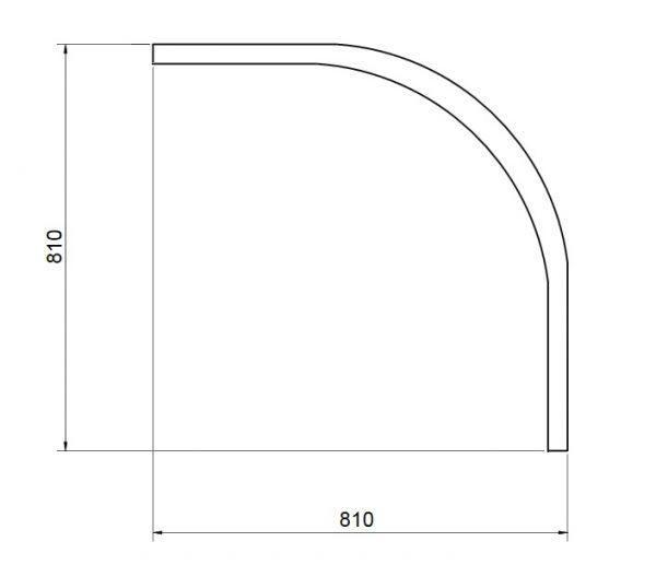 Zdjęcie Obudowa brodzik półokrągły głęboki, z siedziskiem Besco Diper I 90x90x24 cm biały OAD-90-PK