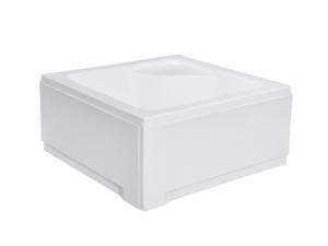 Obudowa brodzik kwadratowy głęboki, z siedziskiem Besco Igor 80x80x24 cm biały OAI-80-KW