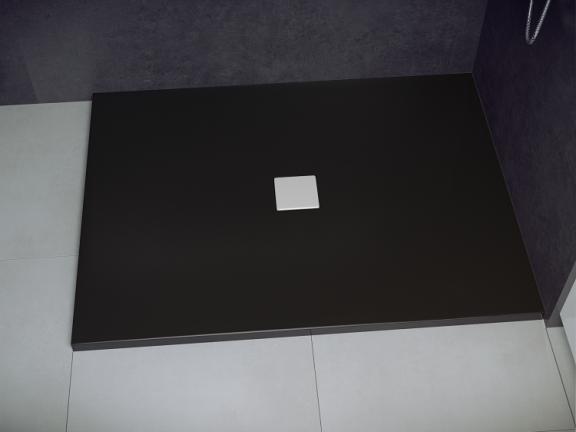 Zdjęcie Brodzik prostokątny czarno-biały Besco Nox ULTRAslim 140×90 cm BMN140-90-CB