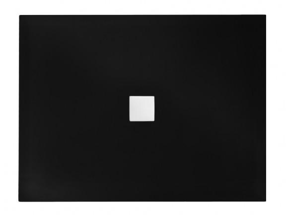 Brodzik prostokątny czarno-biały Besco Nox ULTRAslim 140x90 cm BMN140-90-CB