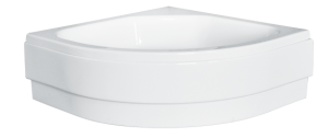 Obudowa brodzik półokrągły średni, pod zabudowę Besco Diper II 80x80x15 cm biały OAD-80-II