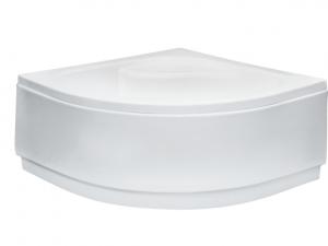 Obudowa brodzik półokrągły głęboki, z siedziskiem Besco Diper I 80x80x24 cm biały OAD-80-PK