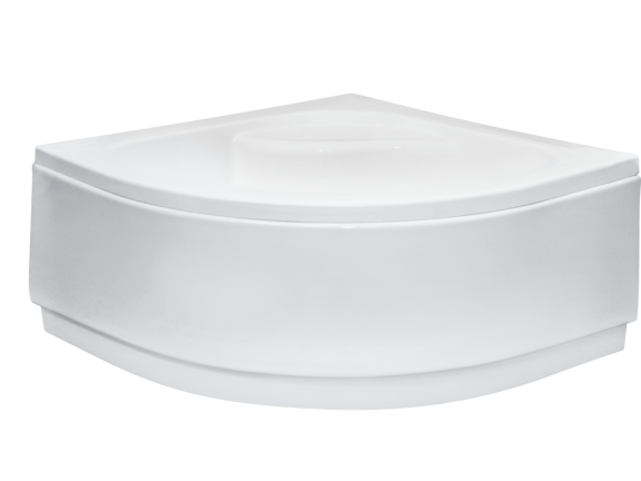Obudowa brodzik półokrągły głęboki, z siedziskiem Besco Diper I 90x90x24 cm biały OAD-90-PK