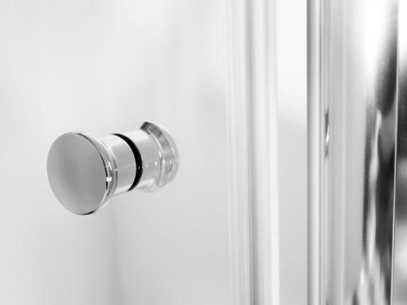 Zdjęcie Drzwi prysznicowe przejrzyste szkło Besco Sinco 80×195 cm DS-80