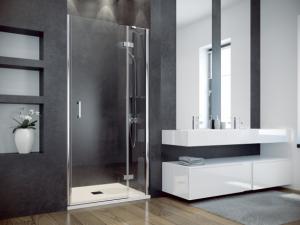 Drzwi prysznicowe przejrzyste szkło lewe Besco Viva 100x195 cm DVL-100-195C