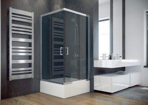 Kabina kwadratowa mrożone szkło Besco Modern 90x90x185 cm MK-90-185-M