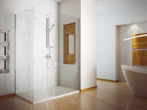 Kabina prysznicowa Walk-In przejrzyste szkło Besco Indre 140x90x195 cm IW-140-90-C