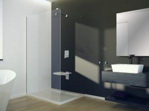 Kabina prysznicowa Walk-In przejrzyste szkło Besco Aveo 90x195 cm AV-90-195-C