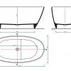 Zdjęcie Wanna wolnostojąca Aquahome Nieve 150×75 cm