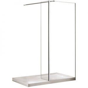 Panel boczny do walk in przejrzyste szkło Besco Aveo/Aveo Due Panel 50x195 cm PA-50-195-C