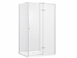 Kabina prostokątna przejrzyste szkło lewa Besco Pixa 100x90x195 cm PPL-109-195C