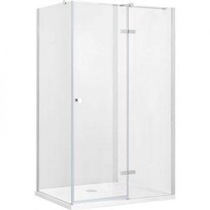 Kabina prostokątna przejrzyste szkło prawa Besco Pixa 100x90x195 cm PPP-109-195C