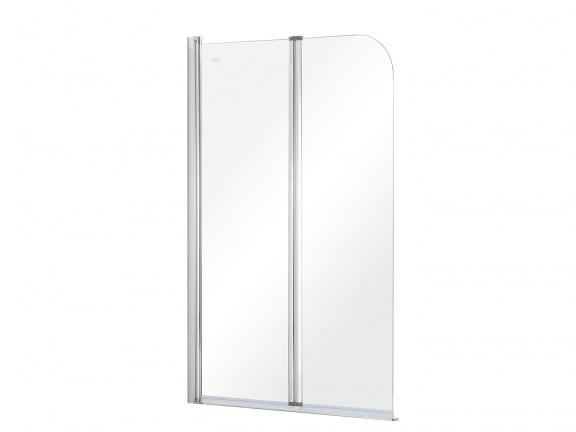 Parawan nawannowy 2-skrzydłowy przejrzyste szkło Besco Prime 2 90×140 cm PNP-2S