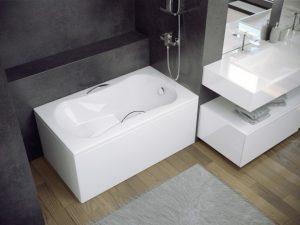 Obudowa do wanny prostokątna Besco Aria Rehab 120x70 cm biały OAP-120-UNI