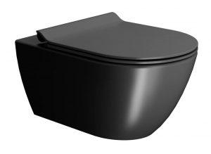 Miska wisząca WC bezrantowa GSI Pura czarny mat 881526