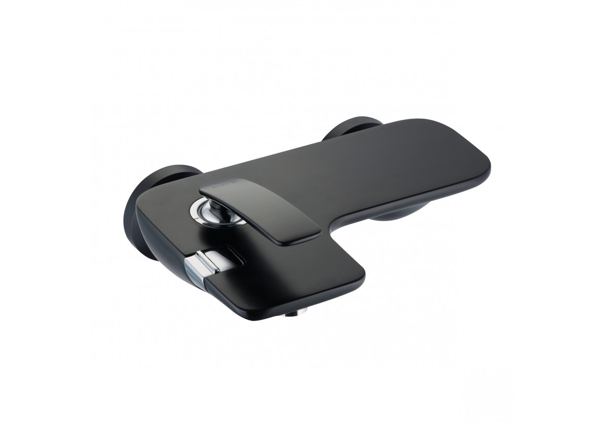 Jednouchwytowa bateria wannowo-natryskowa bez zestawu odpływowego Kludi Balance czarny mat 524458775
