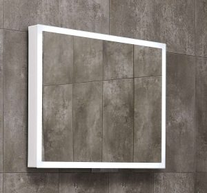 Lustro prostokątne 80x60 cm Miior Com biały