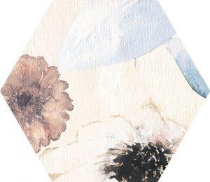 Płytka dekoracyjna Tubądzin Mild Garden hex 22,1x19,2 cm