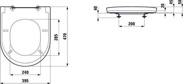 Zdjęcie Deska WC wolnooopadająca Laufen New Classic 47×39,3 cm biały H8918510000001