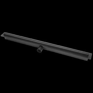 Odpływ liniowy z wąskim rusztem 500 mm Laveo Slim czarny COS_750D